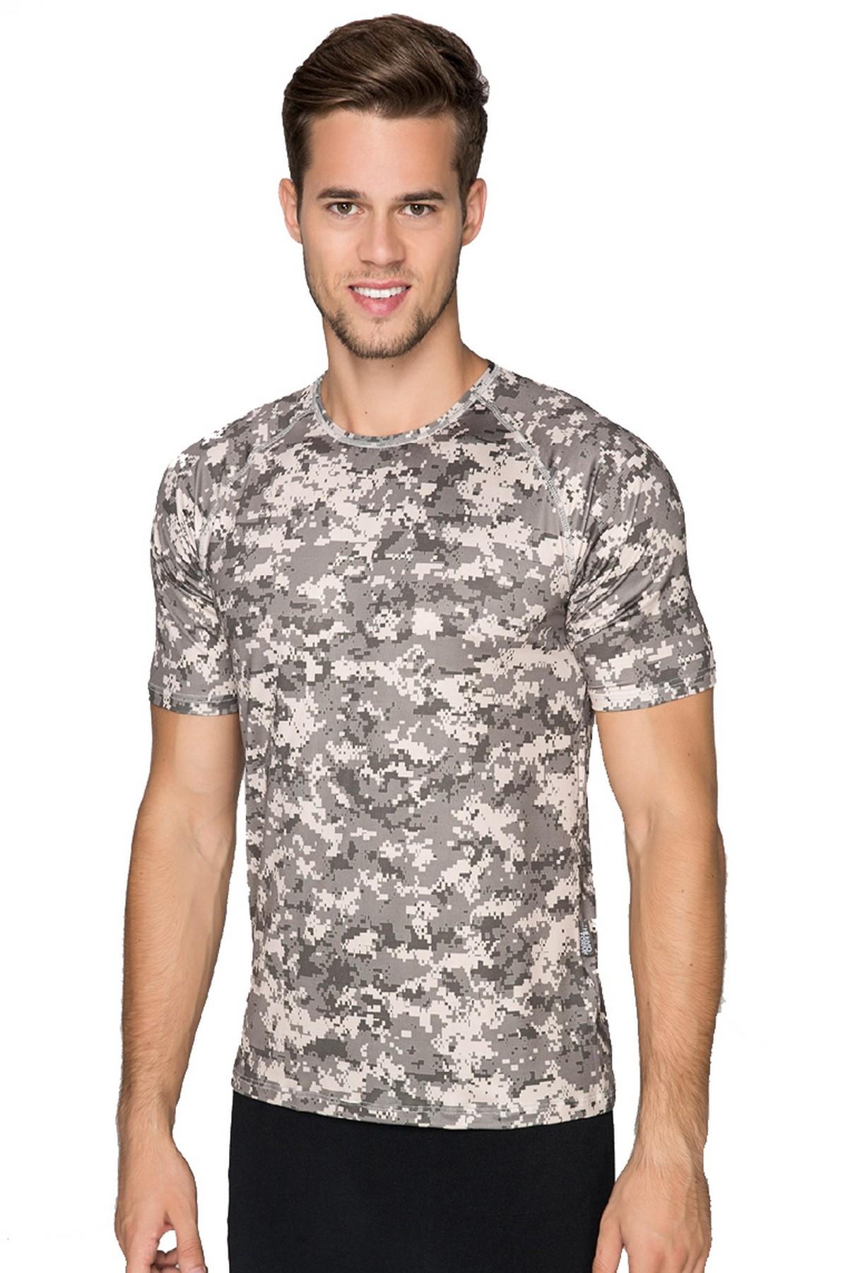 Thermoform Army Microfiber Erkek Tişört Askeri Renk (HZT18025-BGE)