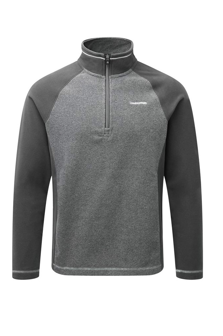 Craghoppers Union Half Zip Polar Erkek Gri Koyu Sweatshirt (CMA1149-73F)