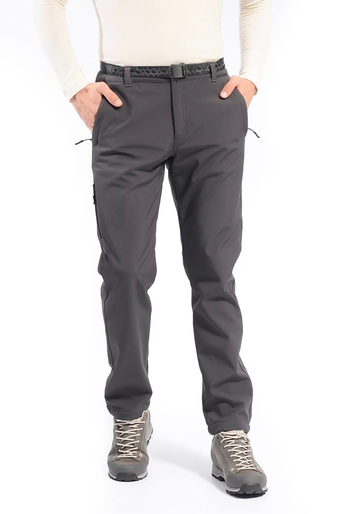 FREECAMP Soft Shell Trekking Pantolon Gri 105138-GR
