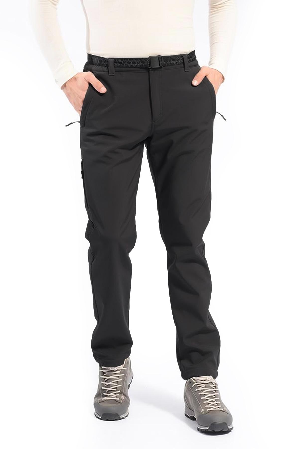 Free Camp Soft Shell Trekking Siyah Pantolon (105138-Sİ)