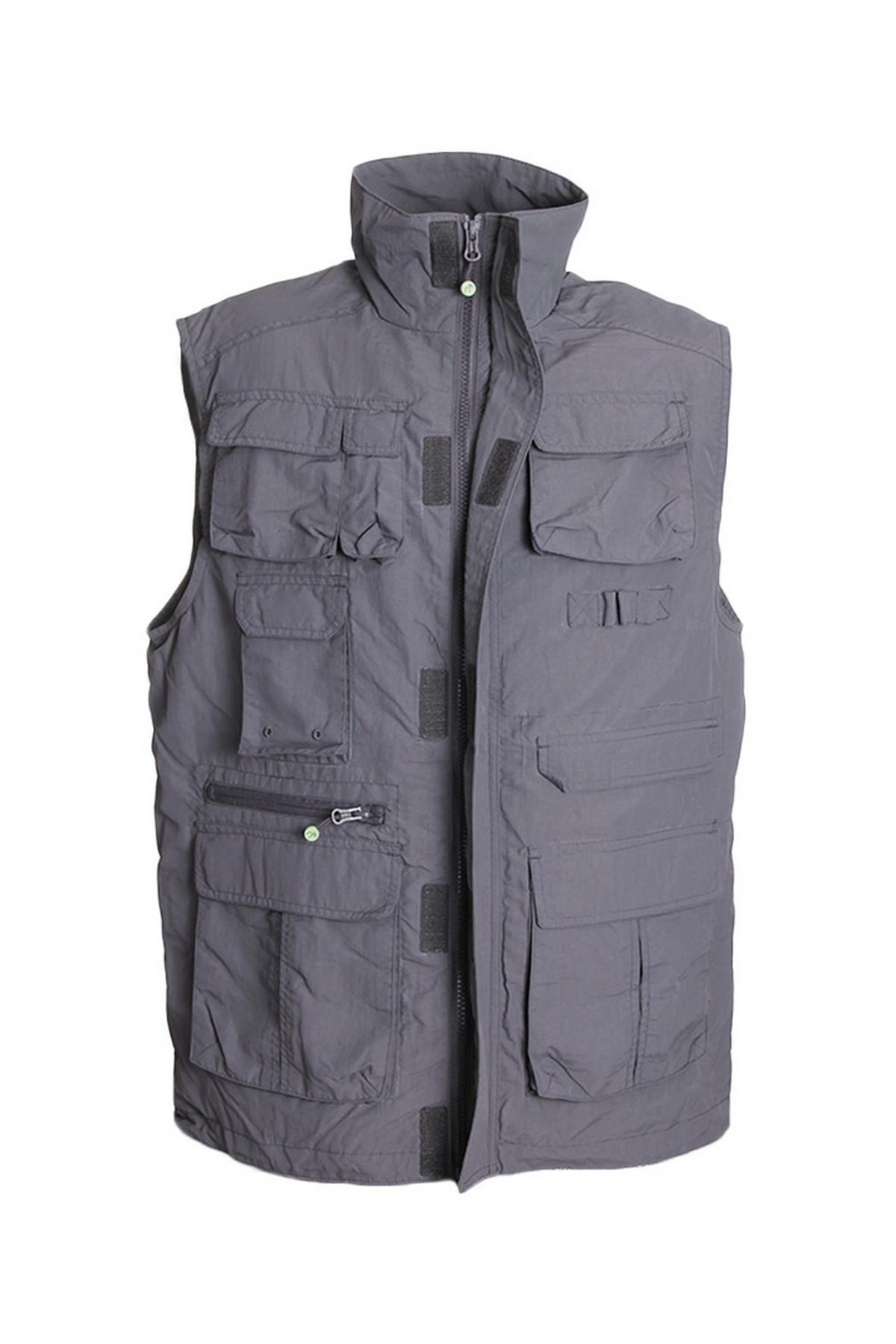 Free Camp Vest Erkek Balıkçı Yelek Gri (101418-GR)