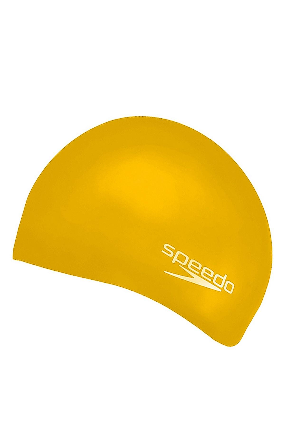 Speedo Plain Moud Silikon Çocuk Yüzücü Bonesi Sarı (8-709906526-S)