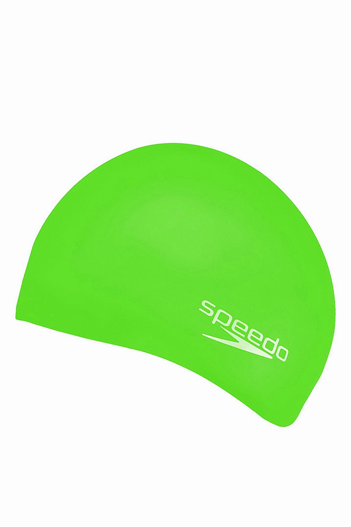 Speedo Plain Moud Silikon Çocuk Yüzücü Bonesi Yeşil (8-709906526-Y)