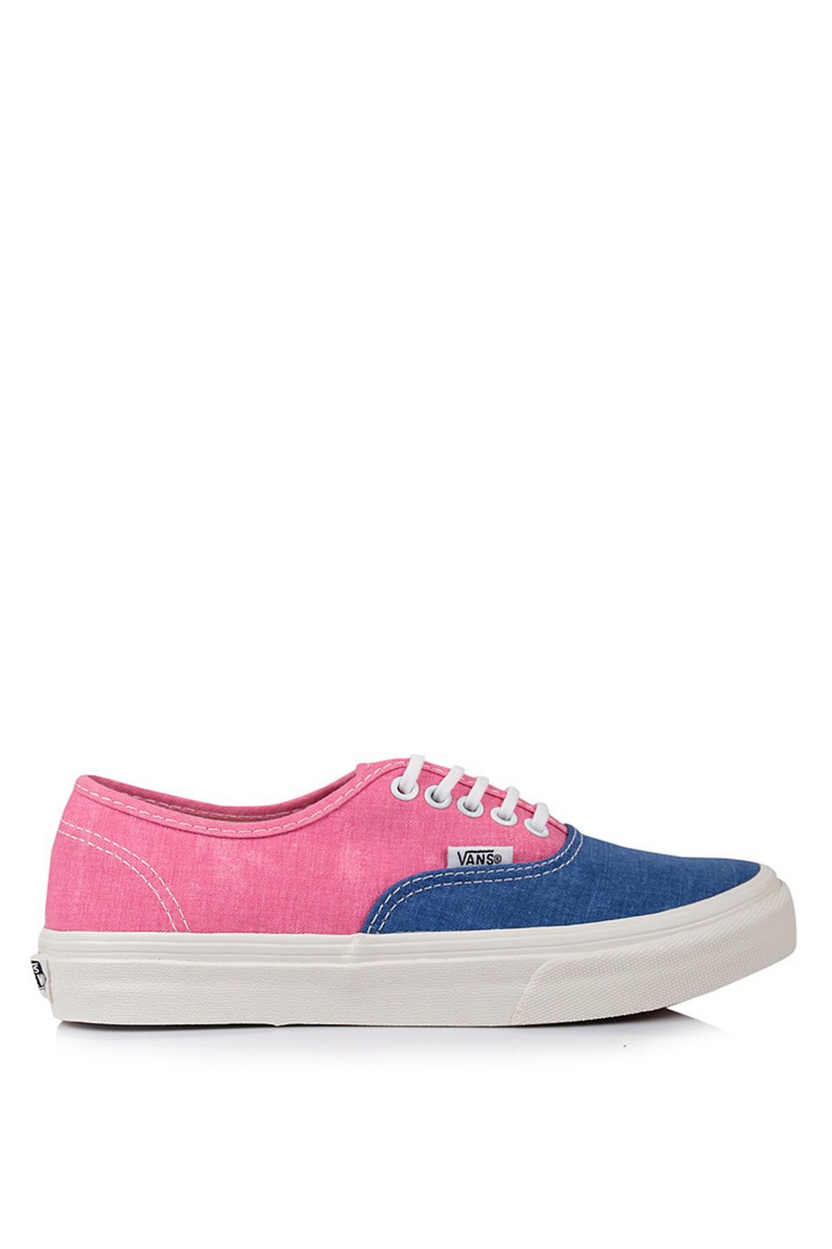 Vans Authentic Günlük Kadın Ayakkabı Pembe-Mavi Renk (VXG6FPU)