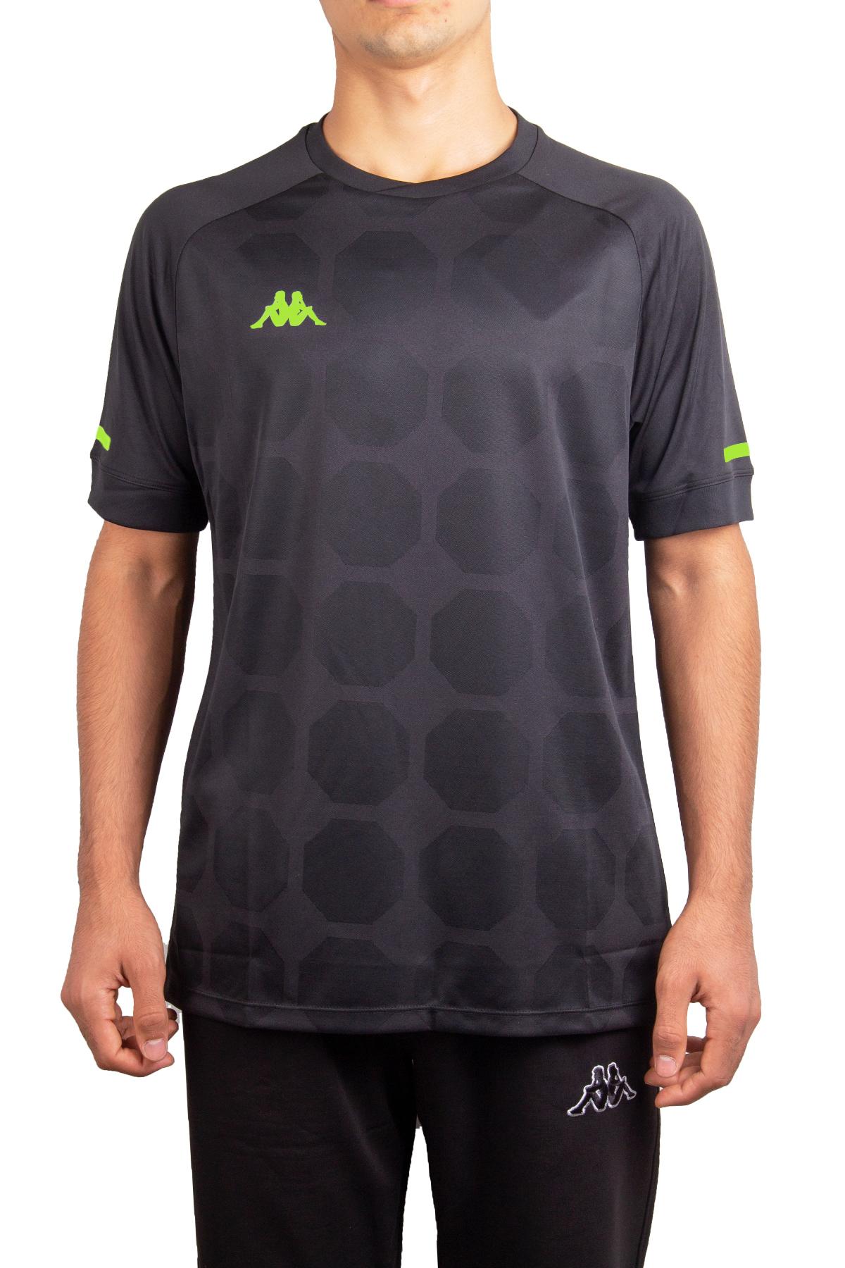 Kappa Poly T-Shirt SOTO Siyah/Yeşil (1-303WG20-298)