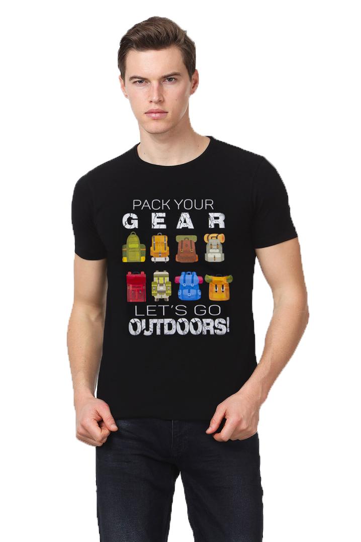 Milo Kamp Trekking Siyah T-Shirt Çanta Logolu (CM202076SYH)
