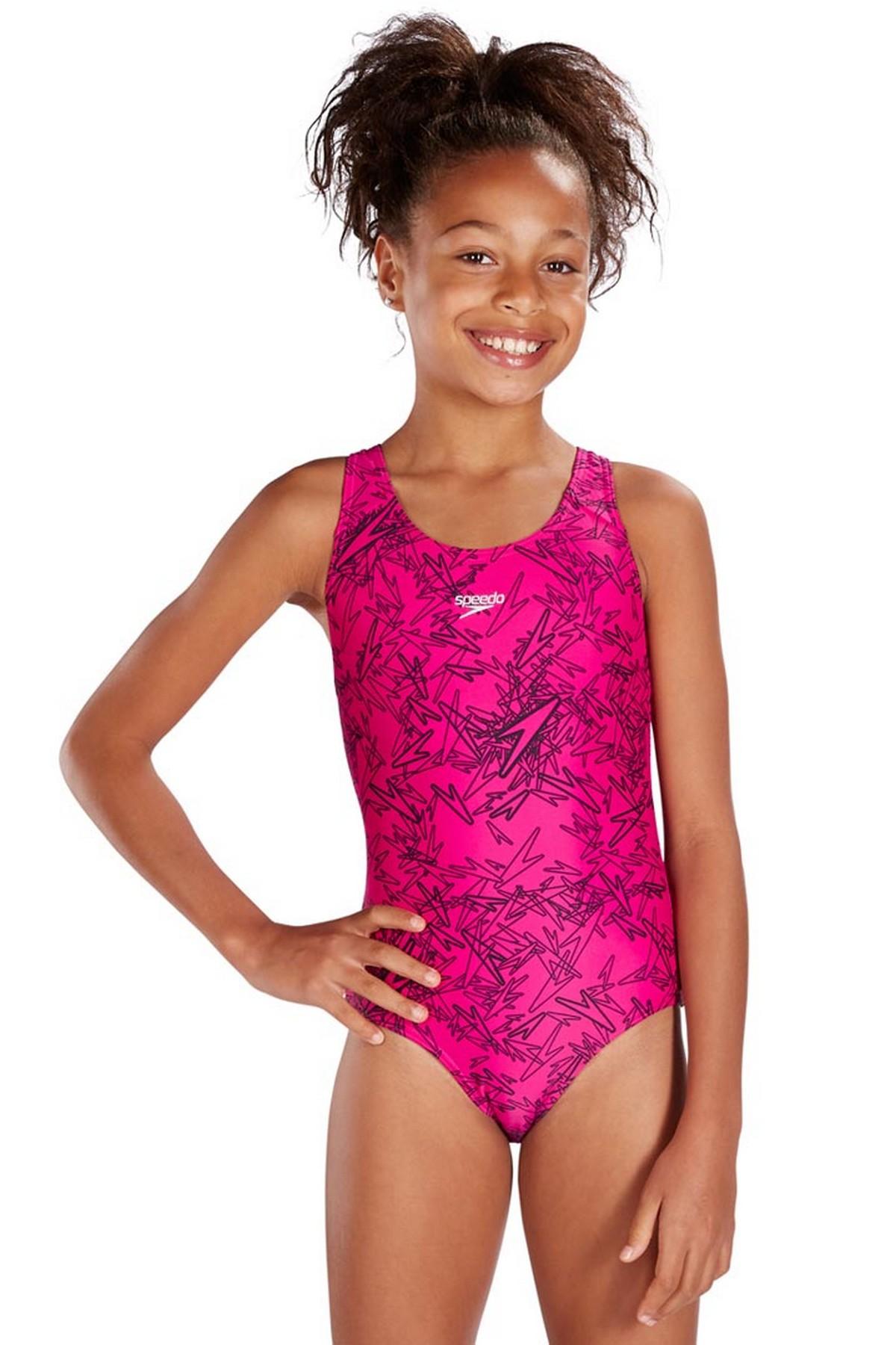 Speedo Boom Kız Çocuk Yüzücü Mayo Pembe (8-10843B352)
