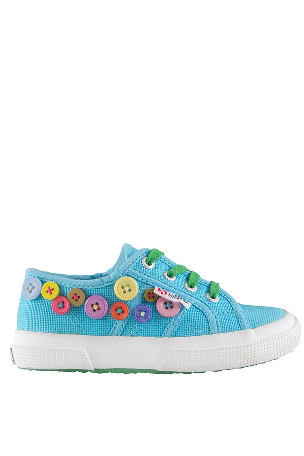 Superga Günlük Çocuk Ayakkabı Düğmeli-Turkaz Renk (S003730-G24)