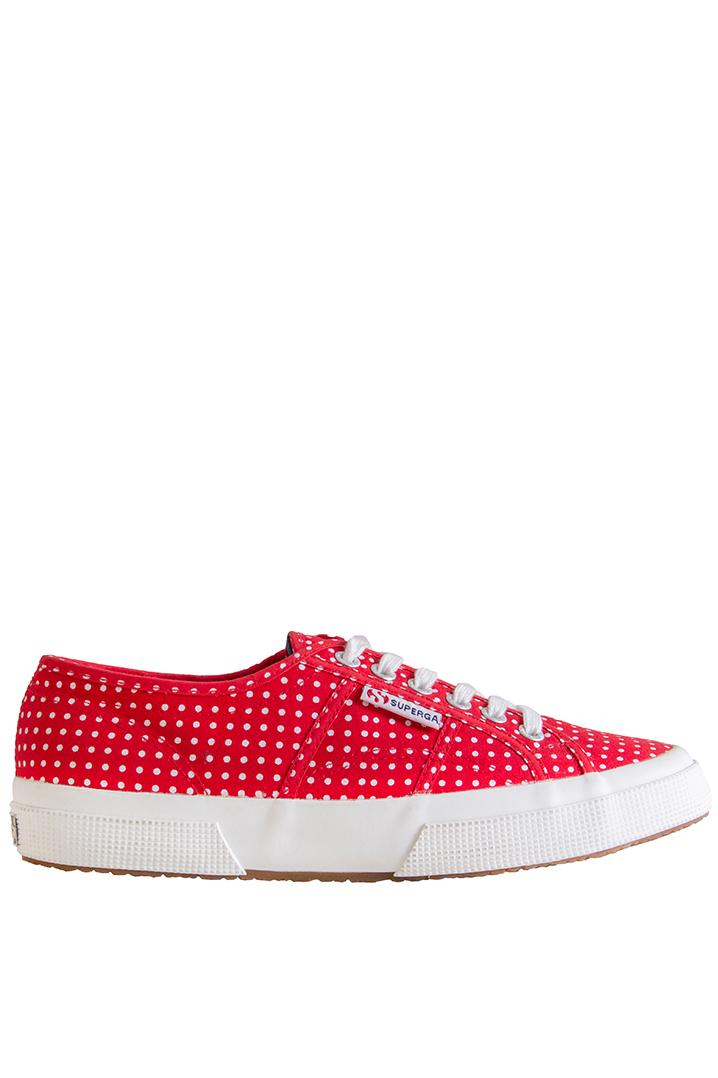 Superga Kadın Ayakkabı 2750 - Cotu Classic Beyaz-Kırmızı Renk (S001W00-F77)
