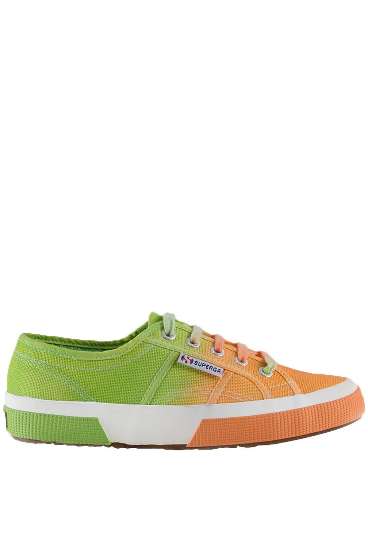 Superga Kadın Ayakkabı 2750 - Cotu Classic Turuncu-Yeşil Renk (S0032F0-929)