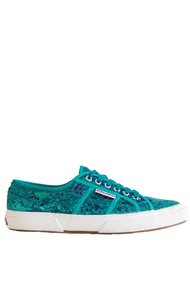 Superga Kadın Ayakkabı Mavi Pullu