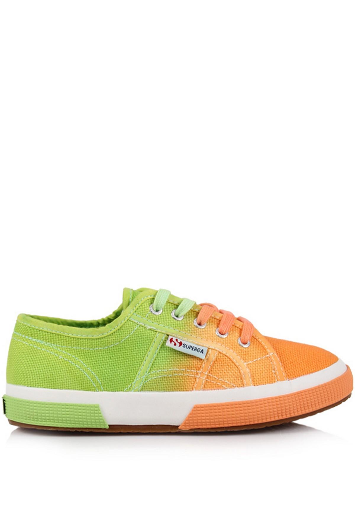Superga Çocuk Ayakkabı Turuncu-Yeşil Renk 2750 - Cotu Classic (S003360-929)