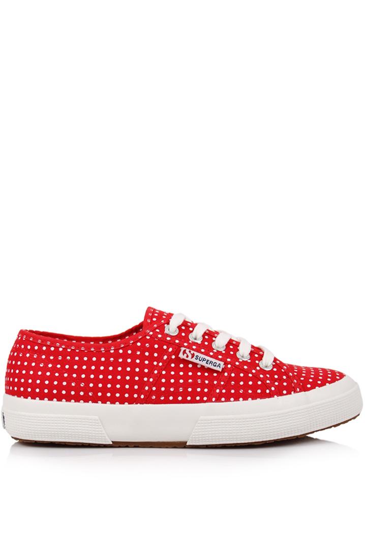 Superga Kadın Ayakkabı 2750 - Cotu Classic Beyaz-Kırmızı Renk