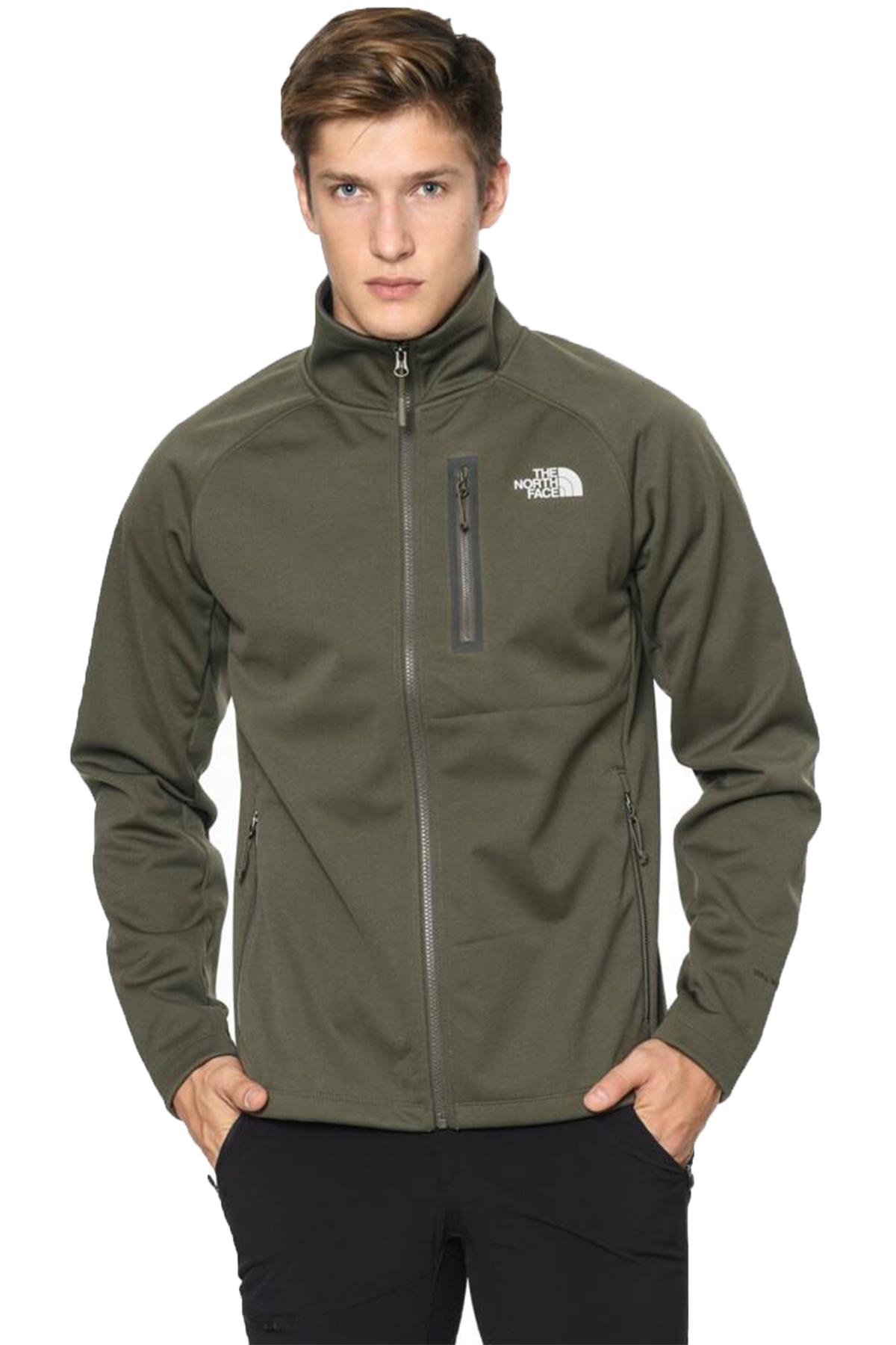 The North Face Can Soft Shell Full Zip Erkek Sweatshirt Yeşil (NF0A3BRHJNT1WP24)