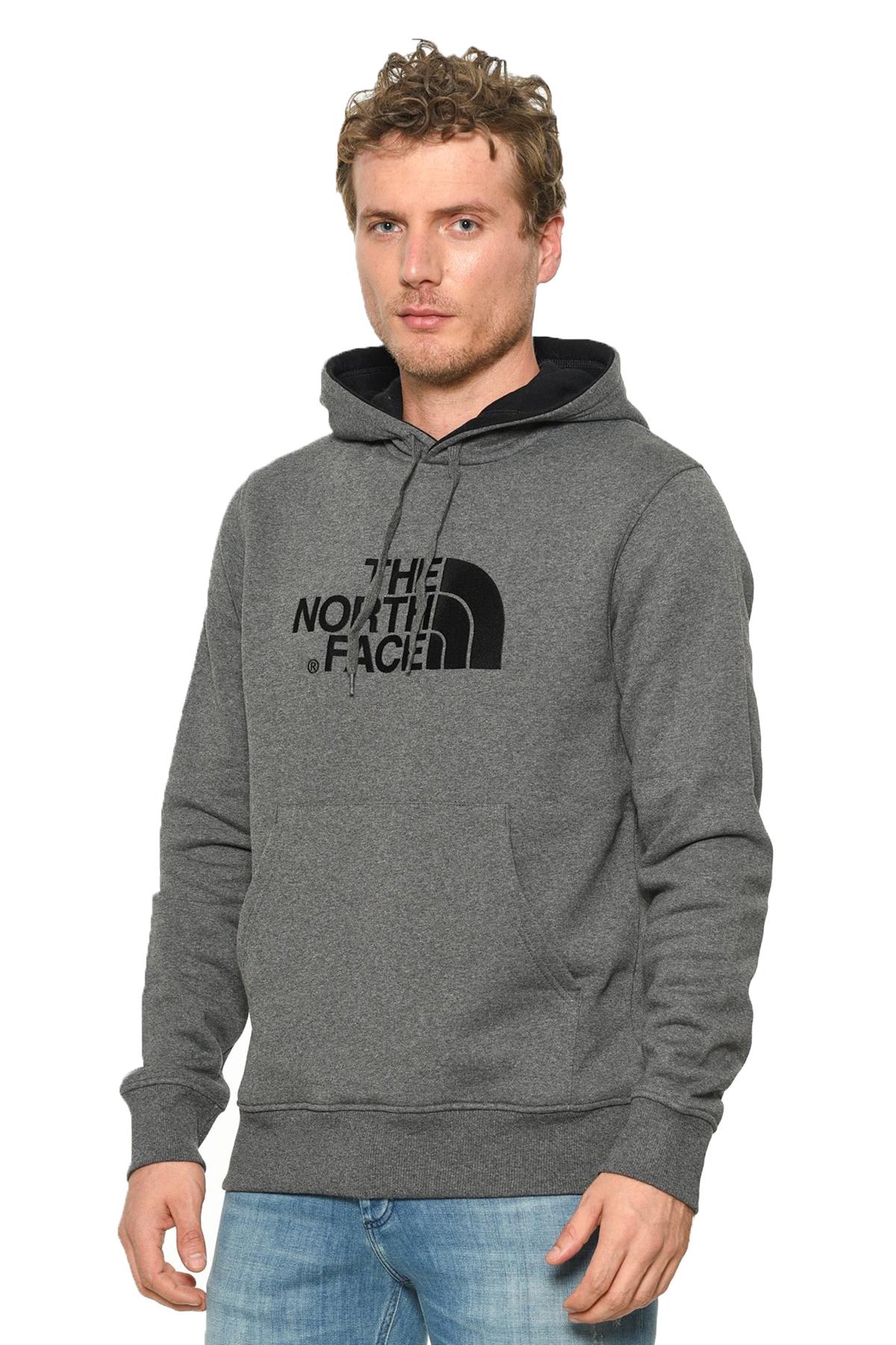 The North Face Drew Peak Pullover Hoodie Erkek Sweatshirt Gri (NF00AHJYLXS1TT-275)