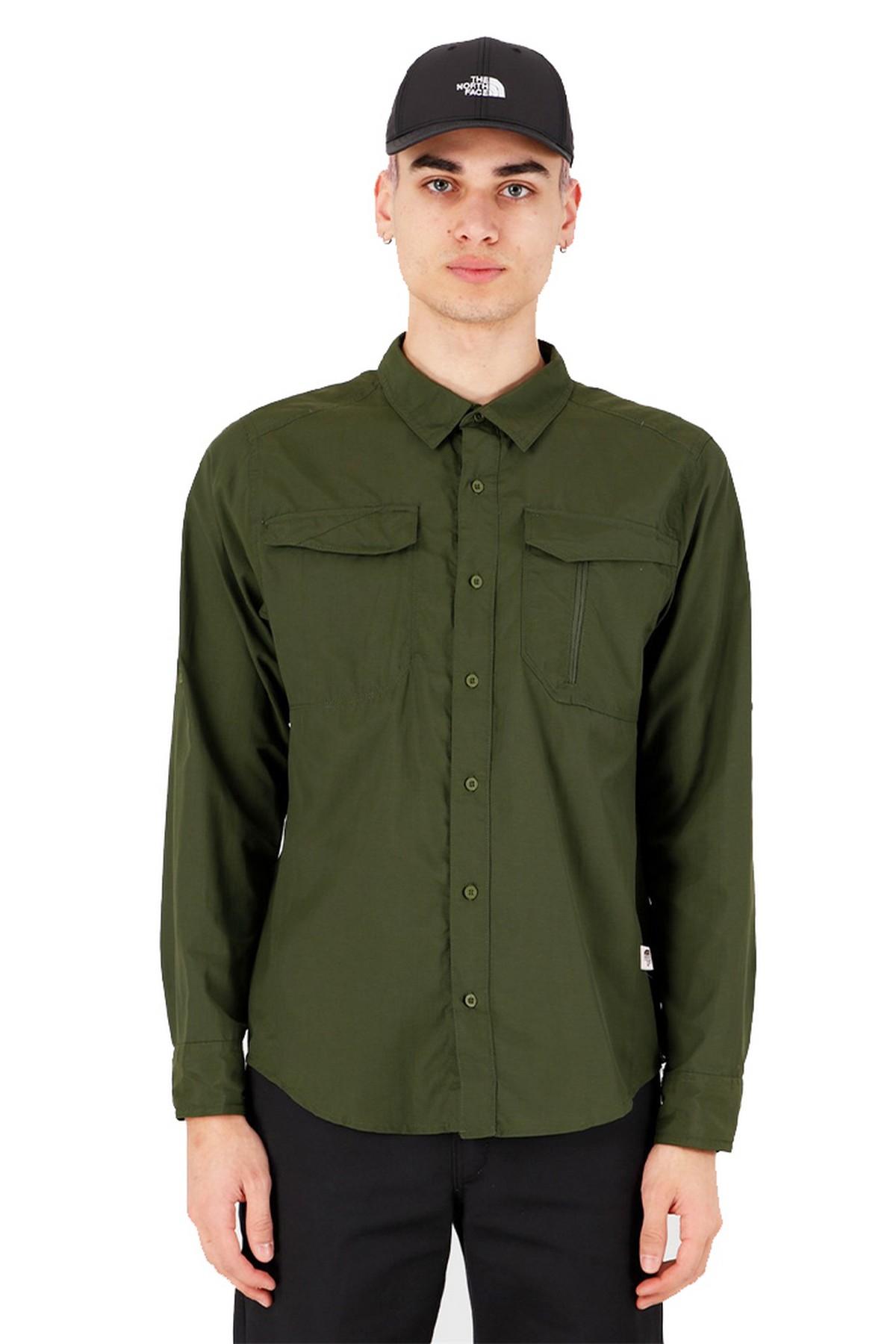 The North Face Sequoıa Uzun Kollu Erkek Gömlek Yeşil (NF0A2XJW37X1SS-48)