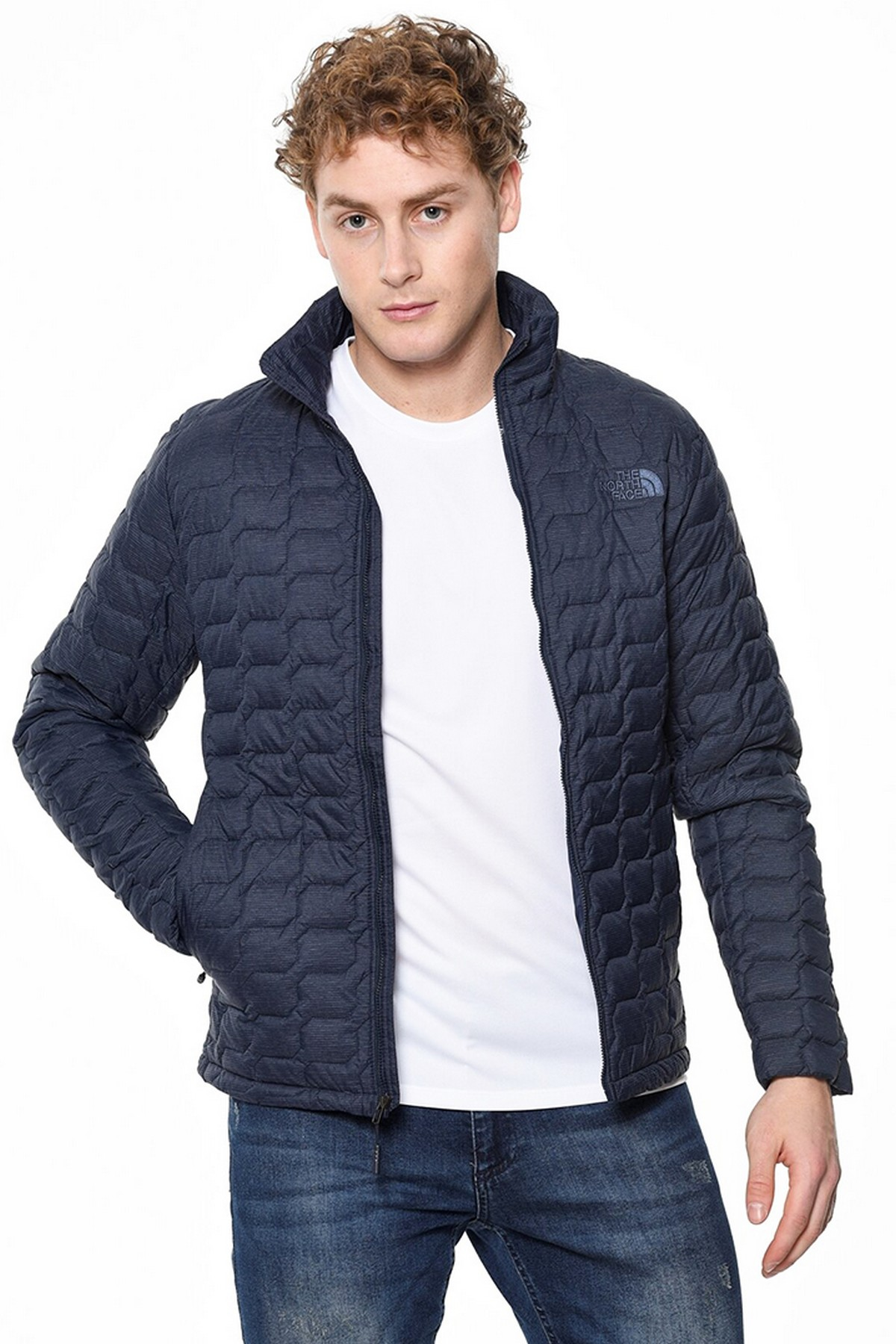 The North Face Thermoball Hooded Insulated Erkek Mont Lacivert (T93RXAMDW)
