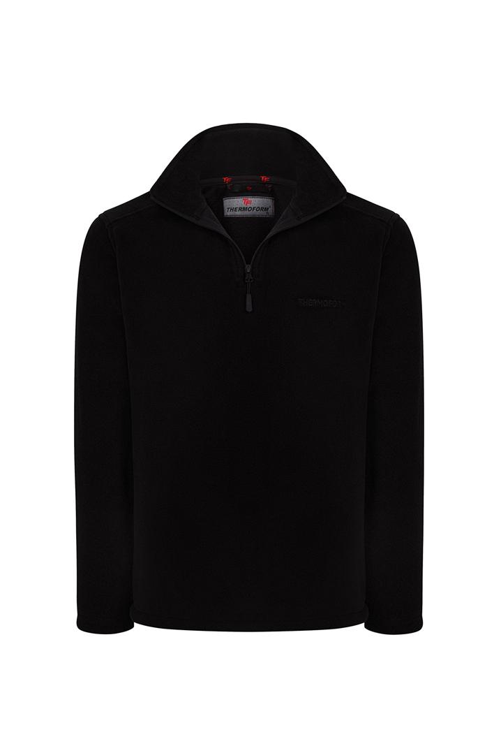 Thermoform Polarline Kadın 1/4 Fermuar Sweatshirt Siyah (HZTP19020-SYH)