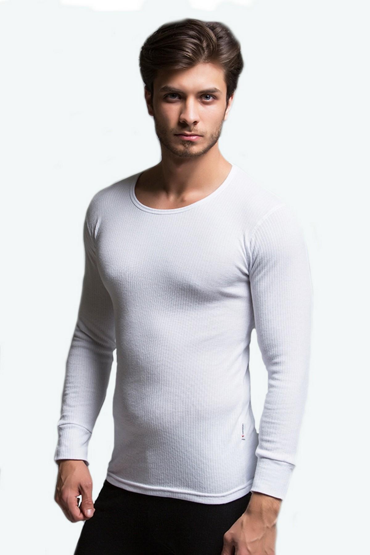 Thermoform Pure Erkek Termal Uzunkol İçlik Beyaz (HZT20003-R002)