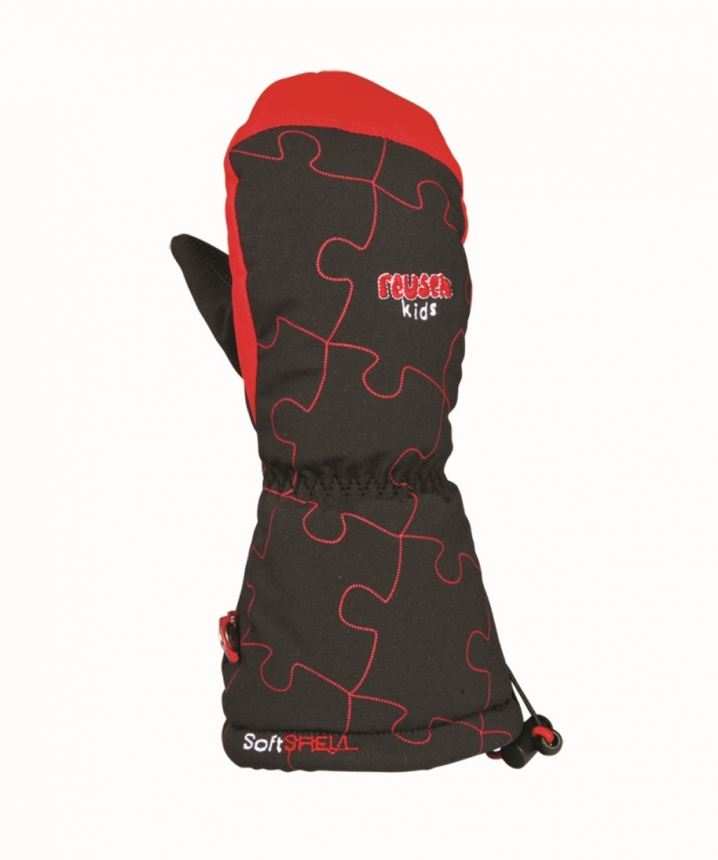 REUSCH - Marlo R-Tex XT Mitten Çocuk Kayak Eldiveni Siyah/Kırmızı